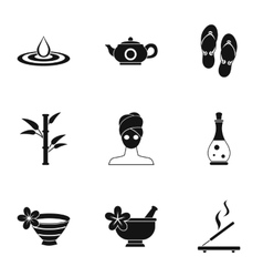Spa icons set simple style vector