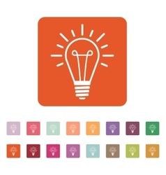 The lightbulb icon Illumination symbol Flat vector image