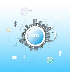 Web site design city vector
