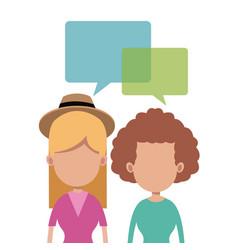 Women together talking image vector