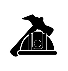 hammer and helmet icon vector image