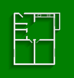 Apartment house floor plans  paper whitish vector