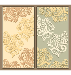 Two decorative backgrounds in pastel colors vector