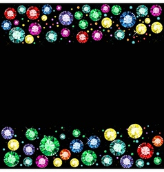 Gem background vector