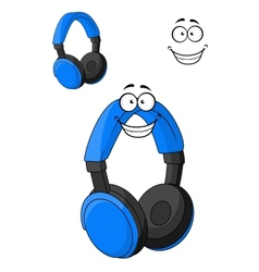 Set of headphones or earphones vector