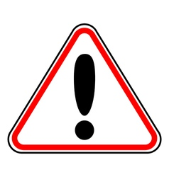 Hazard warning attention sign vector