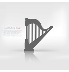 Harp icon msic instruments vector