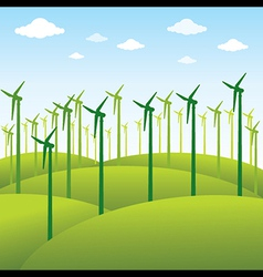 Windmill or green energy source background vector
