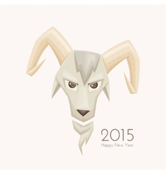 Goat with rounded horns vector