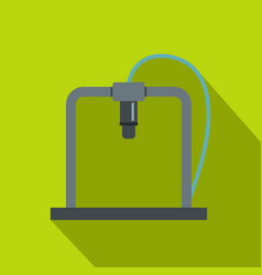 3d printer frame icon flat style vector