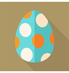 Easter egg with circles vector