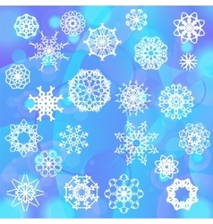 Snow flake background vector