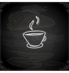 Hand drawn cup of coffee vector