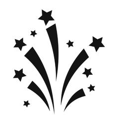Firework simple icon vector