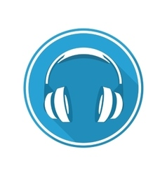 Headphones icon vector