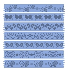 Bow tape pattern vector