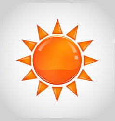 abstract orange sun on white background vector image vector image