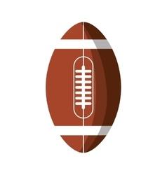 American football balloon isolated icon vector