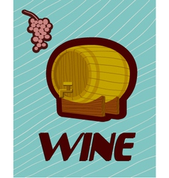 Banner with a barrel of wine vector