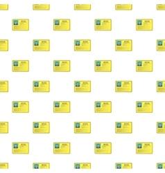 Boss business identification card pattern vector