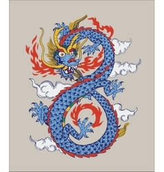 Colorful of chinese oriental dragon vector