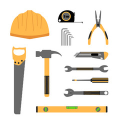 construction working tools icon set vector image vector image