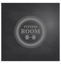 Emblem fitness room in retro style vector