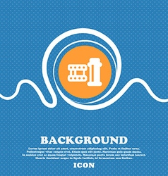film Icon sign Blue and white abstract background vector image vector image