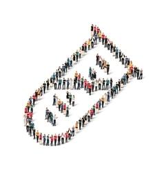 group people shape bulb vector image