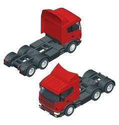 Heavy truck with the trailer 3d isometric vector