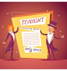 Host Lady Girl Boy Man in Suit with Cane and vector image