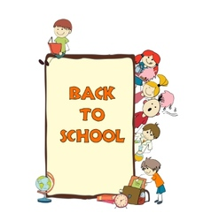 Kids school sketch poster vector