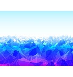 Low Poly Landscape vector image