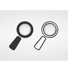Magnifying Glass Icons vector image vector image