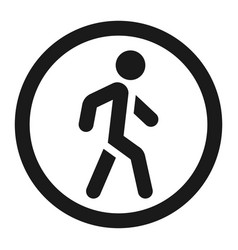 no pedestrians sign line icon vector image