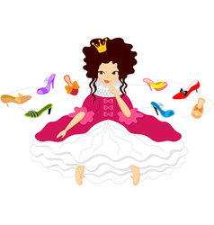 Pretty Smiling Princess Shoes vector image