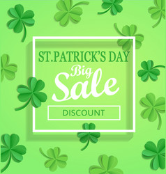 Saint patricks day sale poster template vector