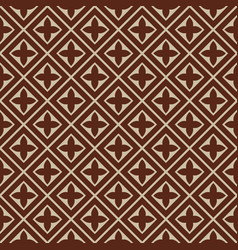 Seamless - brown beige tile pattern vector