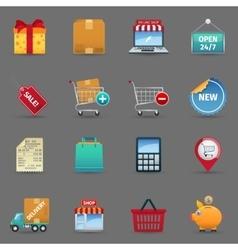 Shopping icons set vector
