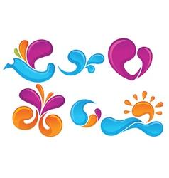 spring symbols vector image vector image