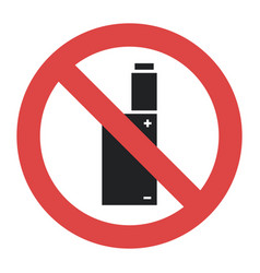 Symbol - vaping forbidden smoking vector