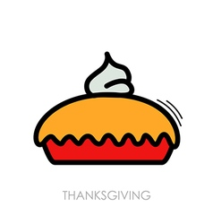 Thanksgiving pie icon harvest thanksgiving vector