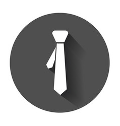Tie flat icon necktie with long shadow vector