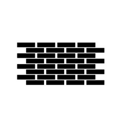 wall the black color icon vector image vector image