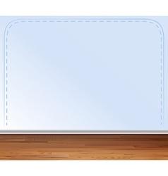 Wooden floor and gray wall vector