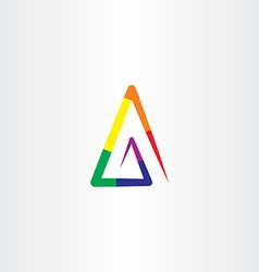 Colorful rainbow triangle logo abstract business vector