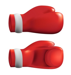 Red box gloves vector