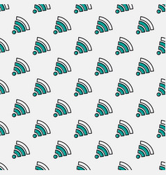 Seamless pattern with wifi sign vector