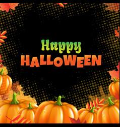 orange autumn pumpkins frame vector image
