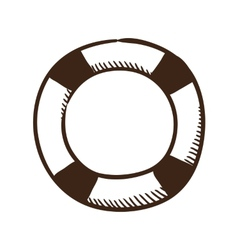 Life buoy help and safety symbol vector